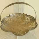 Silver Fancy Handled Footed Pierced Basket Vintage FMS Centerpiece Victorian