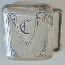 Buckle Antique Flapper Art Deco Sterling Silver Belt  Hickok Initial Letter C