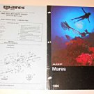 Vintage Mares USA 1980 Dive Catalog Speargun Fins Mask Dealer Price