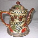 Antique China Chinese Tea Pot Hand Painted Incised Jewel Spout Mongol Princess