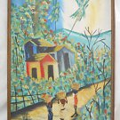 Original Haitian Oil Painting Impressionist Vintage Chenet Ry Tropical Large Big