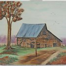 Painting Pastoral Landscape Farm Barn Modernist Rural Rustic Country Fran