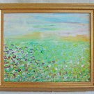 Naive Viintage Folk Impressionist Landscape Painting Giverny Garden Tiny Sloane