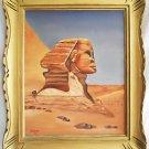 Realism Vintage Painting Sphinx Egypt Arab  Landscape Orientalism Bedouin Starr