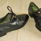Marco Vicci Oxfords Lace Ups Men Shoes Genuine Snakeskin Black Brogues Monoco 8M