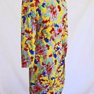 Bill Blass Dress Vintage 70s Deadstock Abstract Print Sarong Effect Wiggle 8