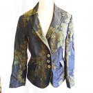 Etro Jacket Blazer Deadstock Retail $2900 Brocade Black Green Gold Vintage 48
