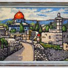 Vintage Needlepoint Onion Dome Church Cityscape Architectural Landscape Framed