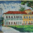 Brazil Vintage Mondelio Original Painting Residence House Colonial Impressionist