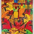 Vintage Black Women Folk Art Painting Jeff Jamaica WI West Indies Antilles Hot