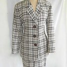 YSL Yves Saint Laurent Skirt Suit Vintage 90s Deadstock Boucle Tweed Encore 6