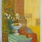 Hollywood Regency Vintage Original Painting Still Life Gallery Room Setting MB