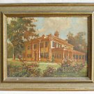 Architectural Antique 1900 Painting Wm Holt Federal House Southern Plantation