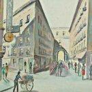 Folk Art Naive Painting Paris Vintage 60s Naughty Street Walker Life Mid Century