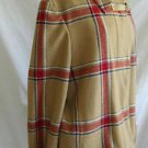 Tommy Hilfiger Jacket Car Coat Plaid Camel Swing NOS Vintage Deadstock Wool XL