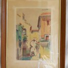 Painting Smith Tangier Casbah Women Romantic Architecture Riad Orientalism Arab