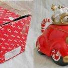 Vintage Fitz Floyd NOS New Old Stock in Box Santa in Car Teapot Deadstock Xmas