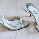 Transparent Vintage 70s Stanley Philipson Silver Metallic See Through Shoes 10