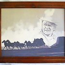 John Wayne Original Vintage Drawing Stagecoach  Monument Valley Western Cowboy