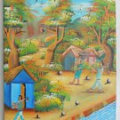 Vintage Folk Outsider Painting Country Occupations Workmen Mixed Race Jacobson