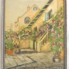 New Orleans Vintage Antique Painting G Sollberger Courtyard French Quarter Slave