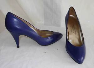 Sergio Zelcer NOS NEW OLD Stock Cobalt Blue Leather Low Cut Pumps Cleavage 4M