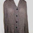NOS Deadstock Jacket  Eileen Fisher Ombre Stripe Shirt Blouse Linen Fluid Boxy