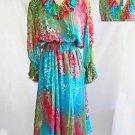 Diane Freis Dress Maxi Deadstock Nos Vintage 80s Silk #dianefries Choker 1X