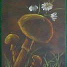 Vintage Original Painting Daisy Mushroom Still Life Modernist 85 D H Sprengart