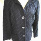 Jacket Vintage 70s NOS Scaasi Embroidered Ribbed Black Tunic Bombshell Retro