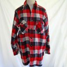 Jacket Vintage Chore Work Frost Proof Warm Wear Men Shirt Red Plaid NOS 15