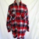 Jacket Vintage Chore Work Frost Proof Warm Wear Men Shirt Red Plaid NOS 15