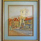 Stratford English Historic Vintage Painting Watercolor Architectural Lucy Family