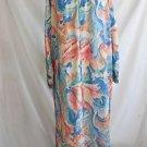 Mary McFadden Lounge Wear Vtg 80 Hostess Gown Robe Maxi Dress NOS Caftan Floral