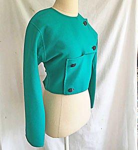 Vintage Mila Schön Schon Jacket NOS Architectural Cropped Bolero Modern Art 38