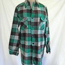 Jacket Vintage Chore Work Frost Proof Warm Wear Shirt Green Plaid Deadstock 15