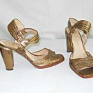 Modern Vintage Kamille Ankle Strap Sandals Metallic Bronze Chunky Heel 36 Shoes