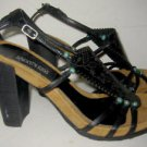 Nos Deadstock CUBE Kenneth Cole Block Heel Bootie Shoes Sandal Gladiator 6.5M