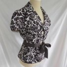 Trina Turk Jacket Deadstock NOS Belt Print Puff Short Sleeve Style # R26114  8
