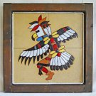 Native American Vintage Tiles Indian Eagle Dancer Thunderbird Southwest Ranch