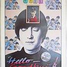 "Beatles  John Lennon Vintage Original 18""x24"" Poster Hello Goodbye 81 Rock Pop"