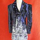 Christian Lacroix  Jacket Tuxedo Velvet Deadstock Vintage 80s Ombre Print 40 NOS