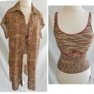 Tankini Top and Matching Dress Deadstock with Tag Pilpel Animal Print 8 Coverup