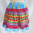 Seminole Indian Childs Skirt Patchwork Sponge Bob Girl Folk Art Native American
