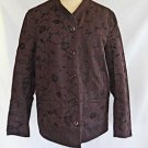 Philosophy di Alberta Ferretti Jacket Deadstock Brown Floral Quilted Lining 8