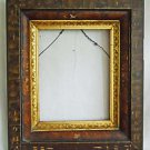 "Victorian Antique Frame Faux Painted Gilded Insert Fancy 13""x16""  8 1/4""x10"""