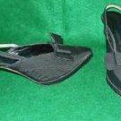 Claude Montana Platform Contour Heel Evening Slingback Pumps Sandals Vintage 8.5