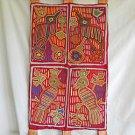 Wall Hanging 4 Mola San Blas Bird Folk Art Kuna Vintage Textile Tapestry