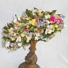Hat Vintage 50s Deadstock RH Sterns Boston Flowers Bows Pom Pom Original Hatbox