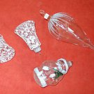 Christmas Vintage Ornaments Frosted Glass Santa Bells Big Acorn Italy Moderne 4